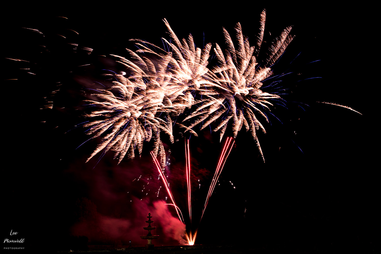 Wedding fireworks at Cowdray Estate
