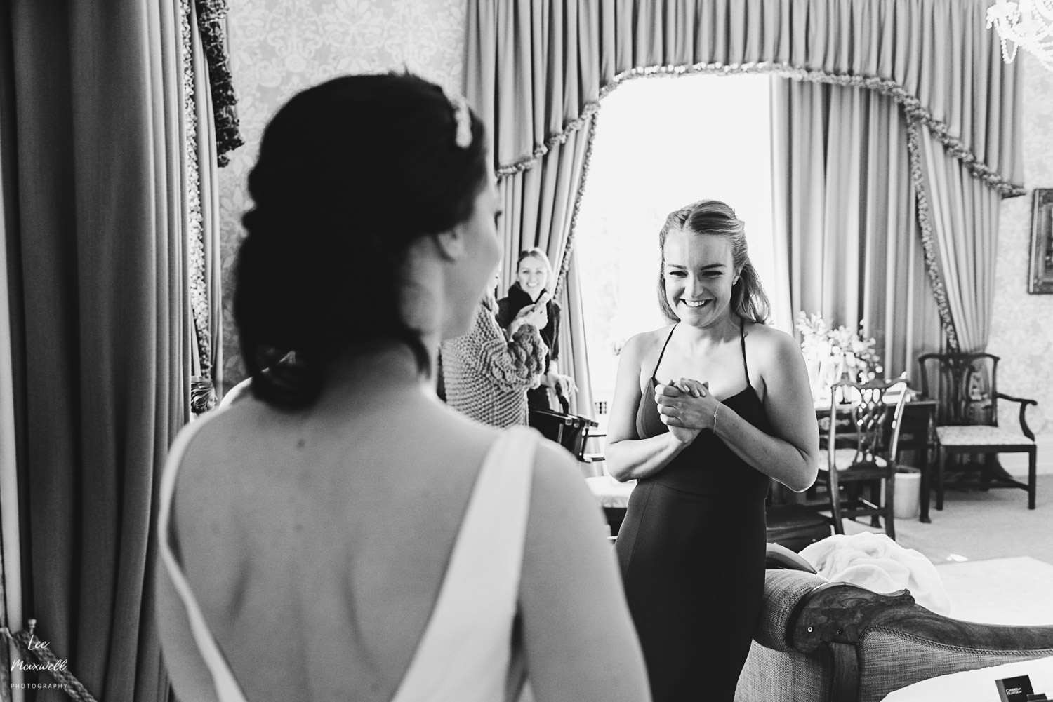 Wedding dress reveal at Cowdray Estate