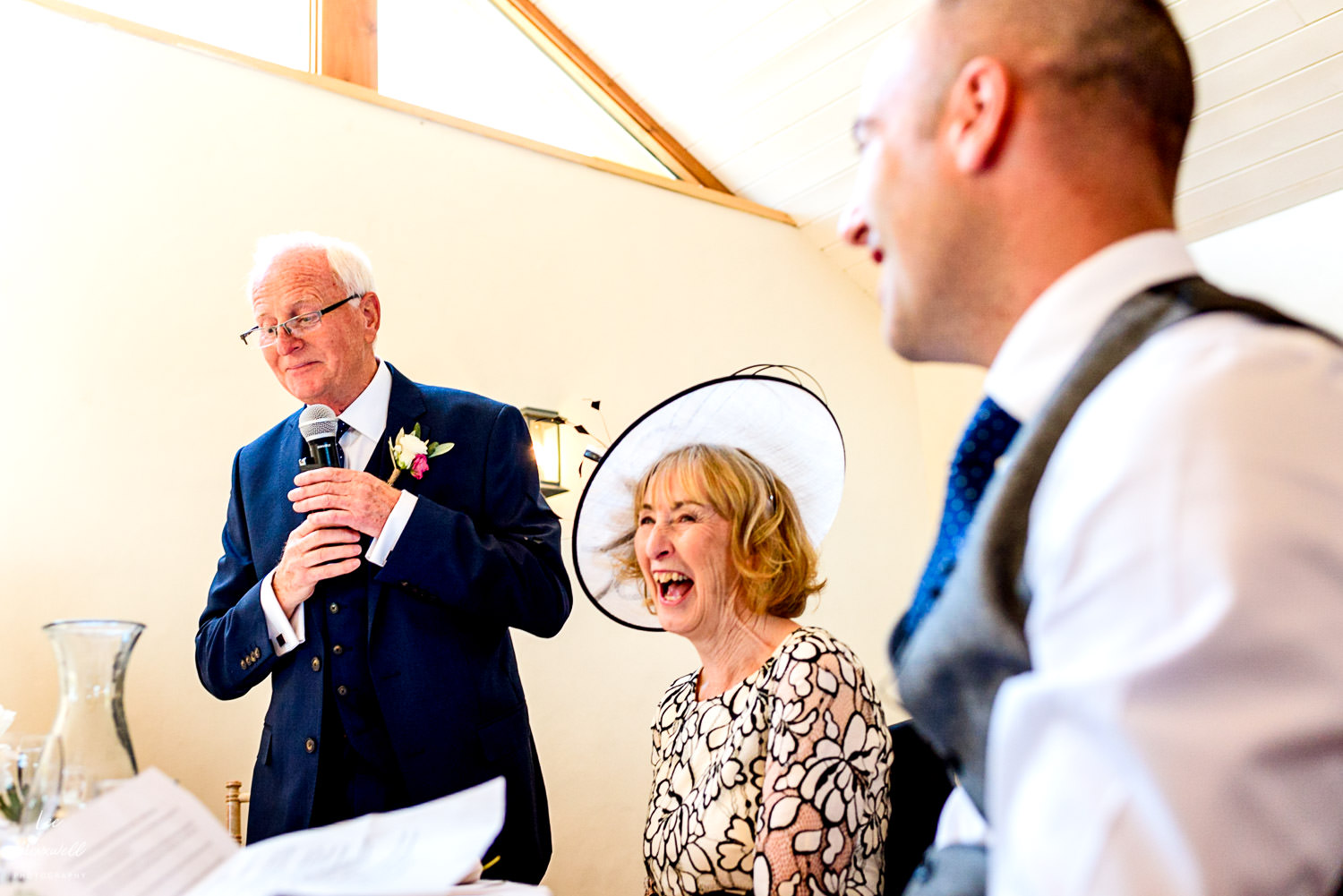 Dad's wedding speech at Launcells Barton