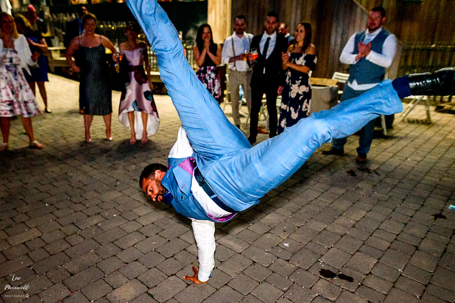 Break dance battle at wedding