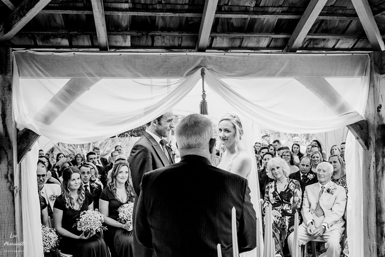 Wedding ceremony at Barrons Hill Barn