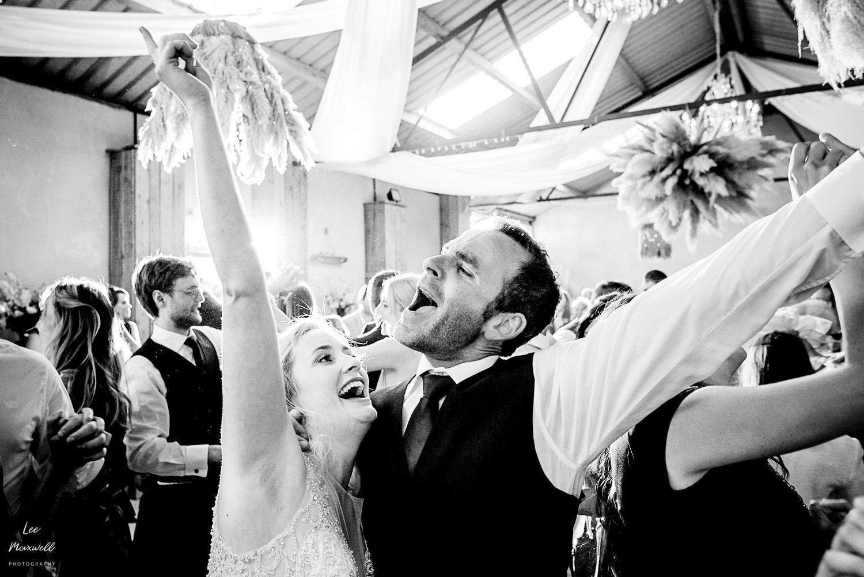 Singing bride and groom