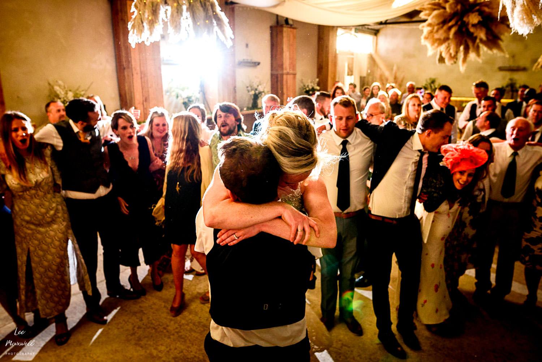 Having a hug on the dancefloor