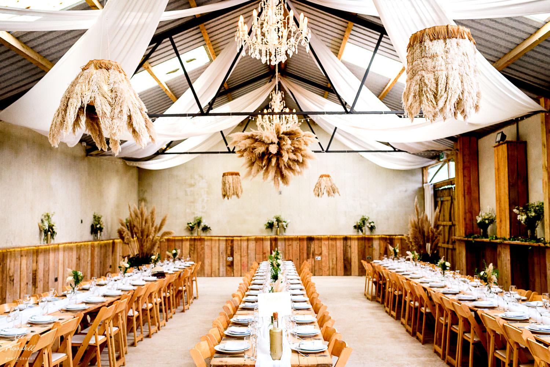 Wedding decor at Barrons Hill Barn