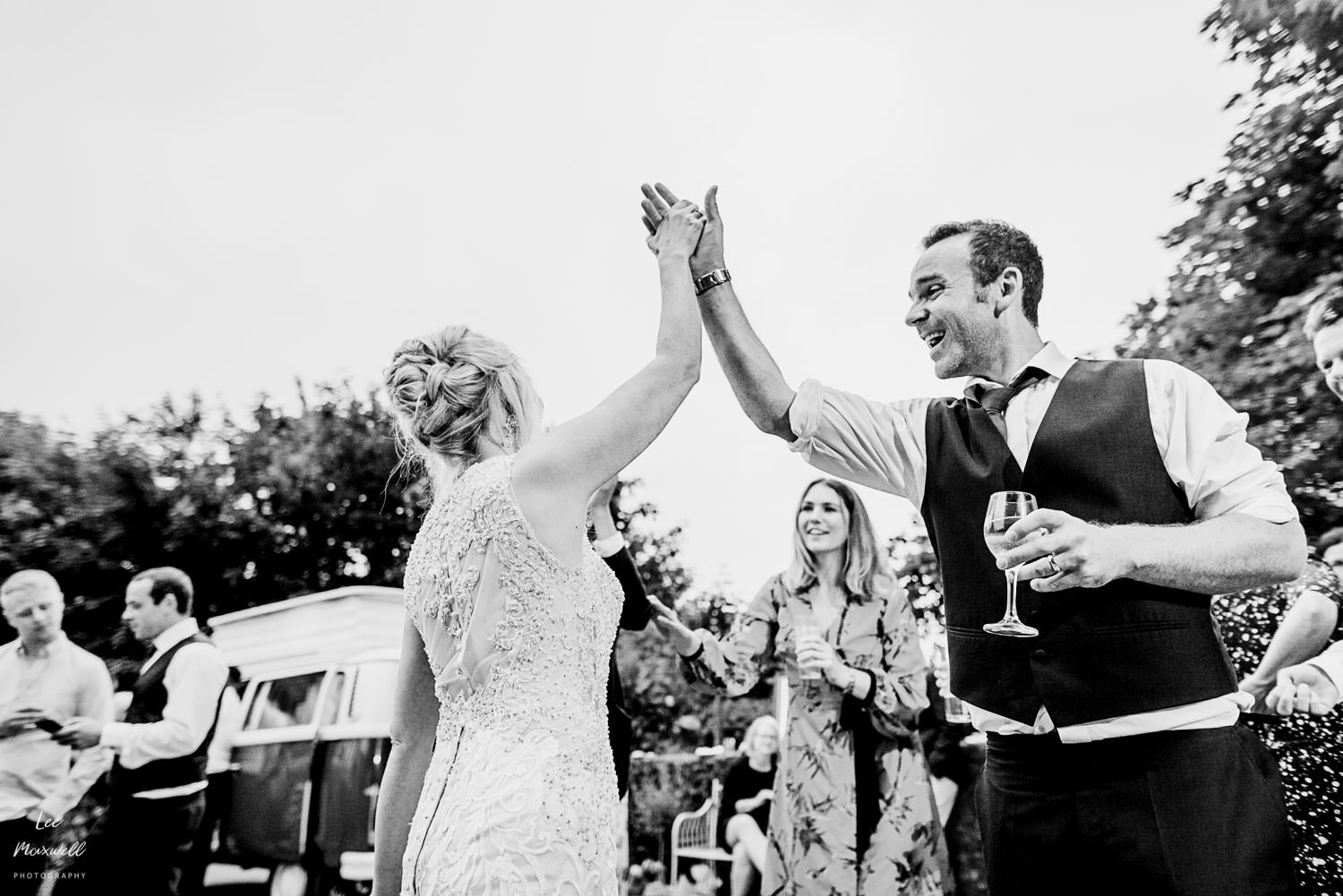 High five the bride