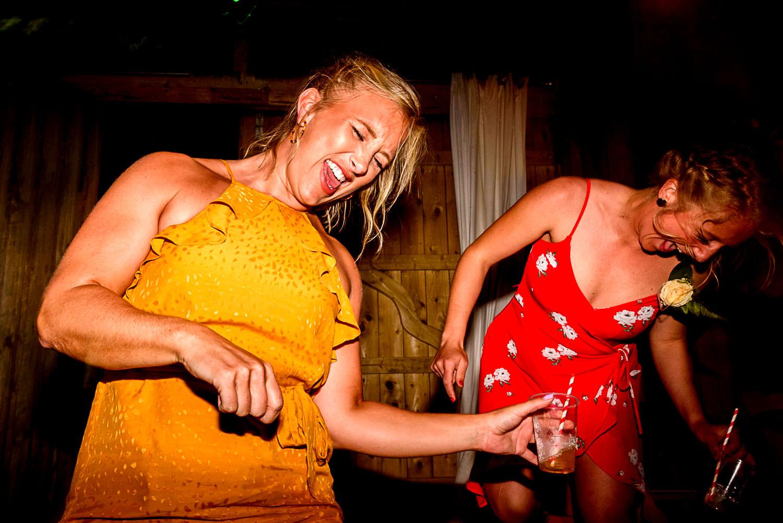Fun dance floor at wedding party