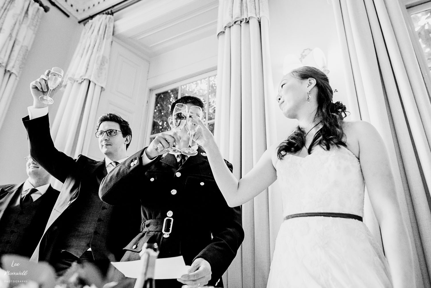 Wedding toast at Pynes House