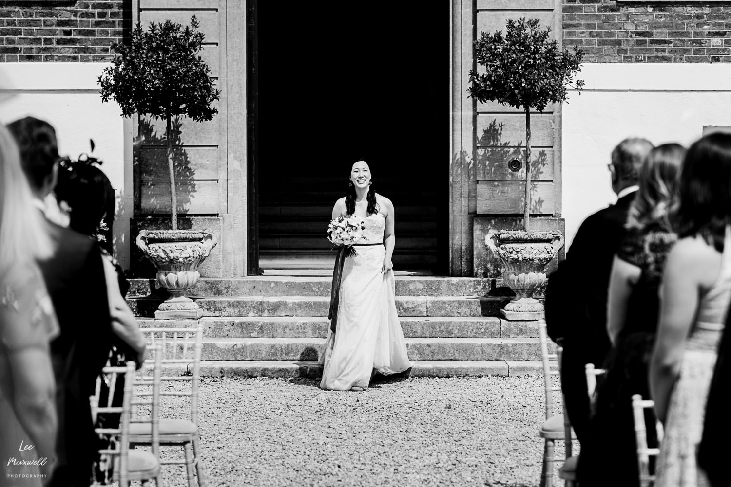 Bride's entrance at Pynes House Wedding