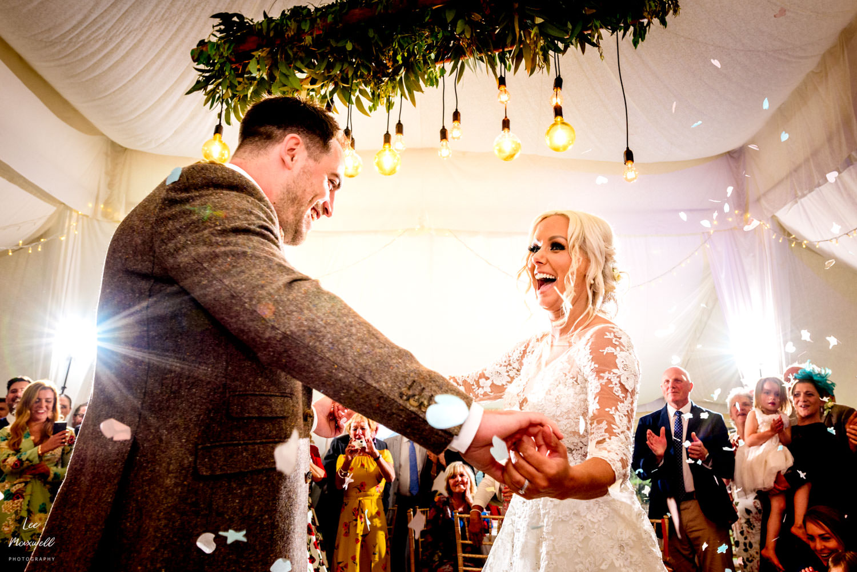 Devon marquee wedding first dance