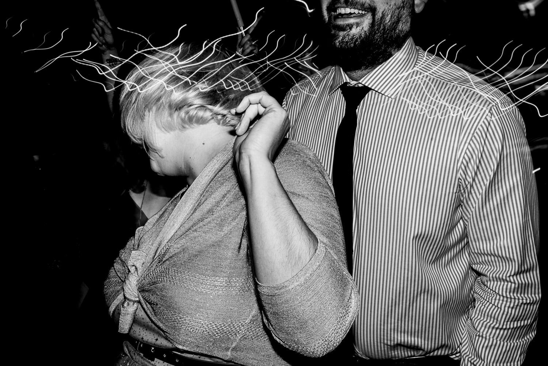 Wedding guest drunken dancing